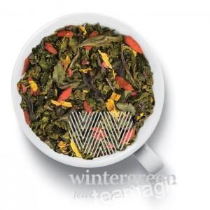 Чай Gutenberg зеленый ароматизированный Годжи - Малина