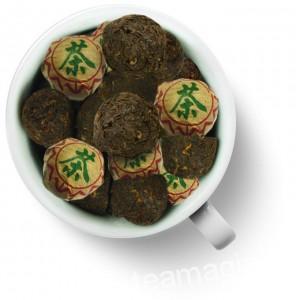 Чай Gutenberg китайский элитный шу пуэр прессованный Сяо То (мини то ча)